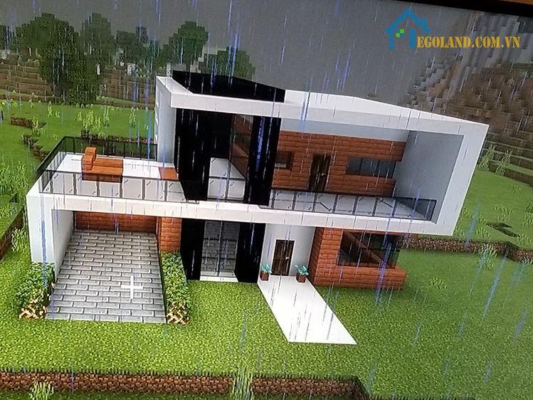 Mẫu xây nhà trong Minecraft 13
