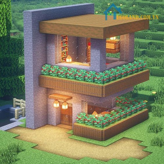 Mẫu xây nhà trong Minecraft 24