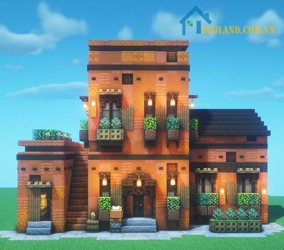 Mẫu xây nhà trong Minecraft 28