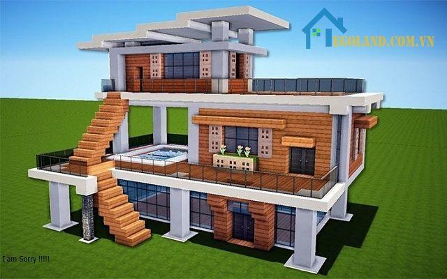 Mẫu xây nhà trong Minecraft 3