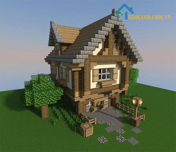 Mẫu xây nhà trong Minecraft 4