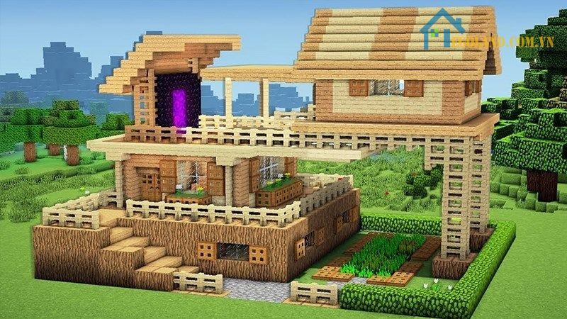 Mẫu xây nhà trong Minecraft 6