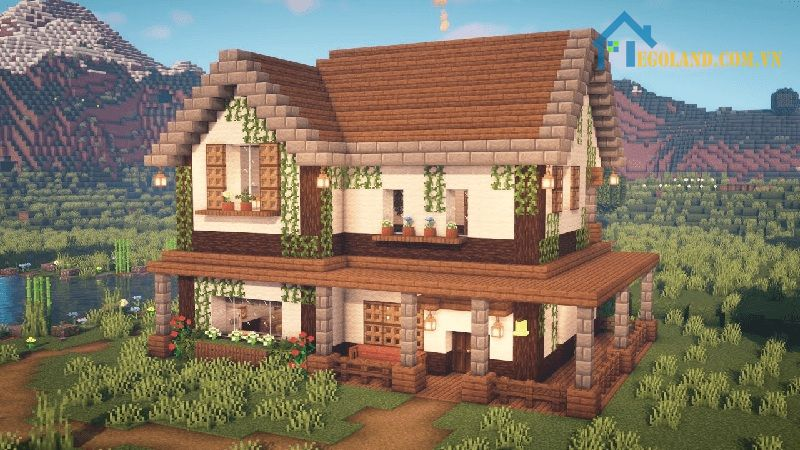Mẫu xây nhà trong Minecraft 7