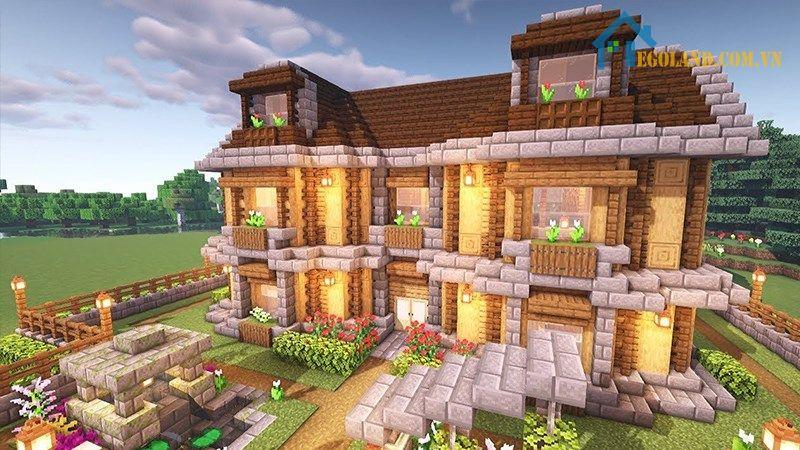 Mẫu xây nhà trong Minecraft 8