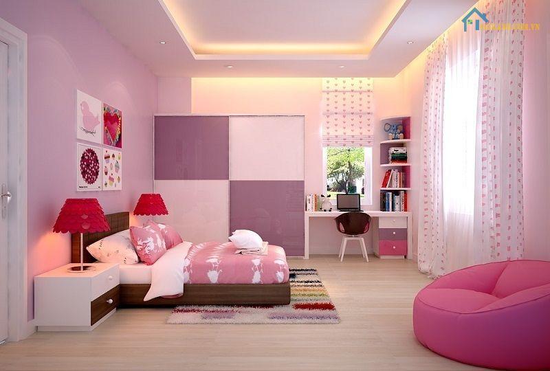 Người mệnh hỏa có nên sơn phòng ngủ màu hồng?