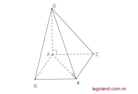 Ví dụ tính thể tích hình chóp tứ giác đều 1
