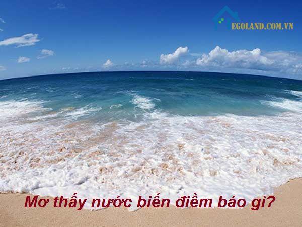 Mơ thấy nước biển điềm báo gì?