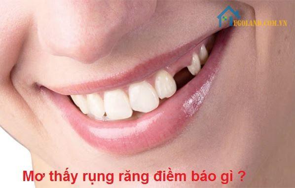 Mơ thấy rụng răng điềm báo gì?