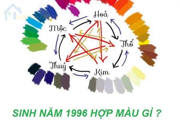 Sinh năm 1996 hợp với màu gì?