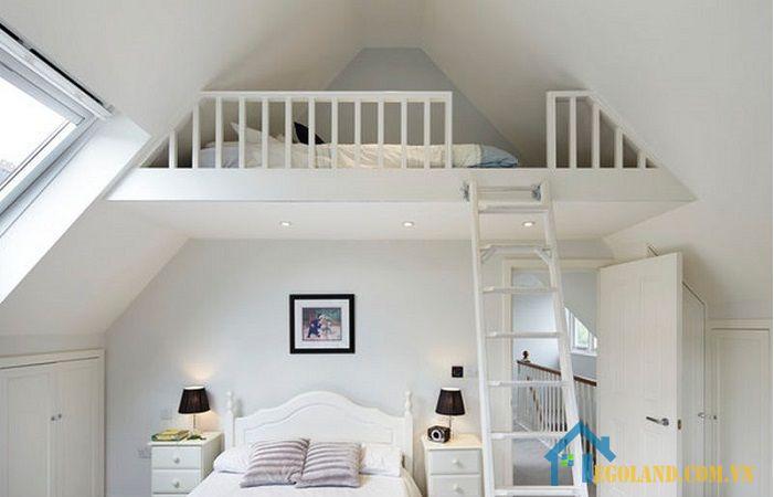 Tầng lửng trong phòng luôn tạo được cho gia chủ cảm giác riêng tư và rất thoải mái