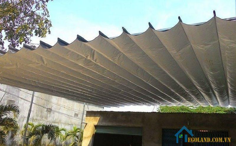 Bạt che mưa nắng hiện nay được ứng dụng rất phổ biến trên thị trường