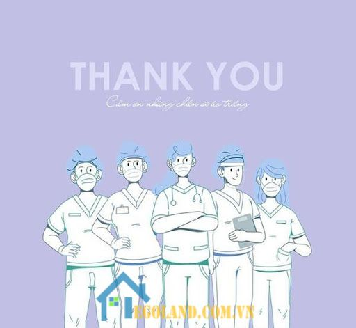 Cảm ơn những người phục vụ cho ngành y tế