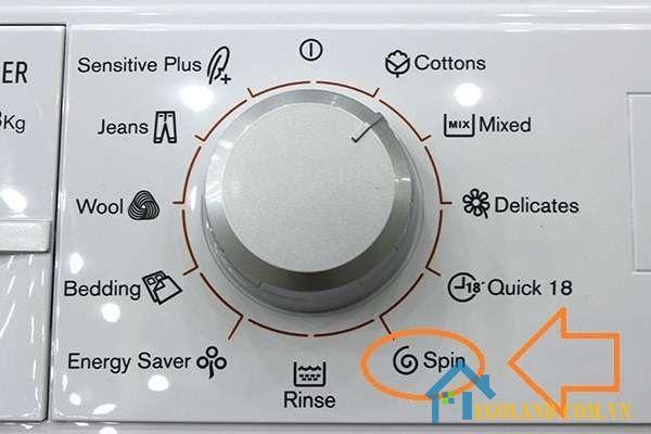 Chức năng Spin - Vắt cực khô của máy giặt