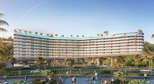 Tổ hợp căn hộ, khách sạn Ancruising có hướng vọng ra vịnh Ngọc Nha Trang này còn tựa lưng ôm trọn núi Cảnh Long