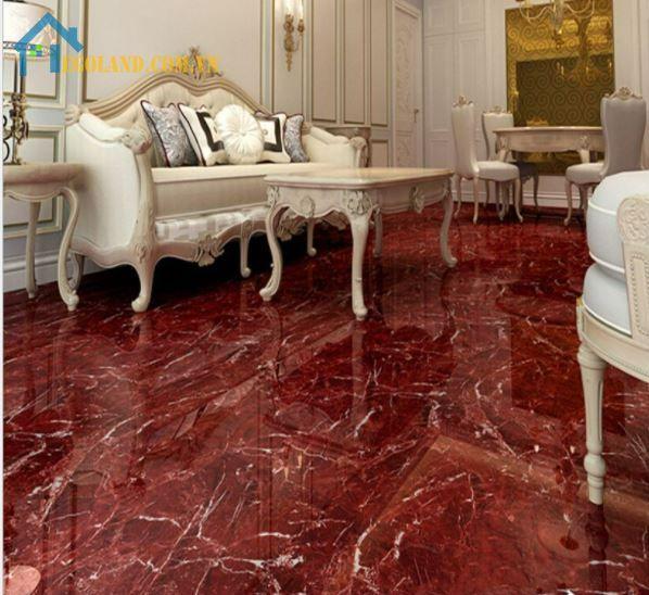 Gạch giả đá màu cẩm thạch đỏ