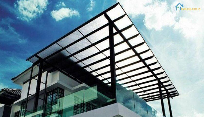Mái che sân thượng bằng nhựa Polycarbonate