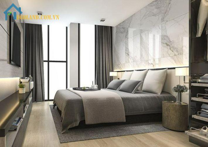Mẫu gạch giả đá cho phòng ngủ