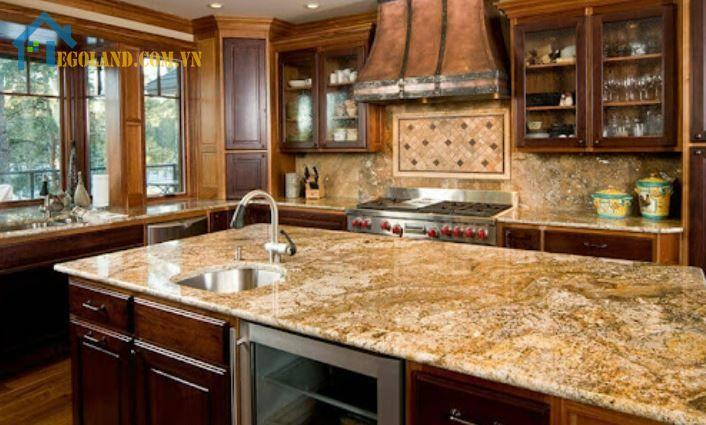 Mẫu gạch giả đá hoa cương cho phòng bếp
