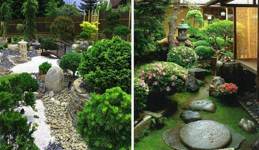 Thiết kế sân vườn đẹp đơn giản theo phong cách Nhật