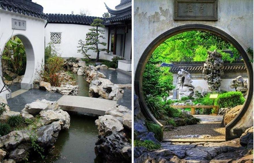 Thiết kế sân vườn đpej theo phong cách Trung Quốc