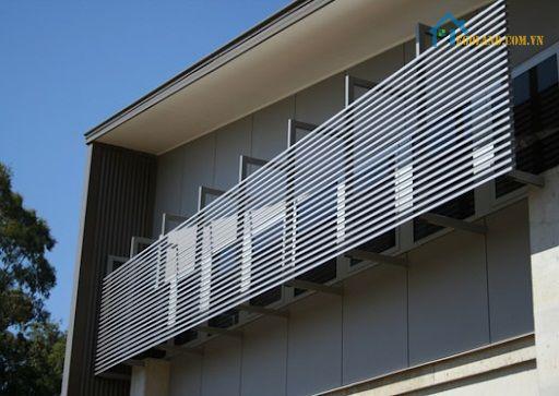 Tùy thuộc vào mỗi công trình xây dựng cụ thể mà lam chắn nắng sẽ có sự thay đổi linh hoạt về cấu tạo