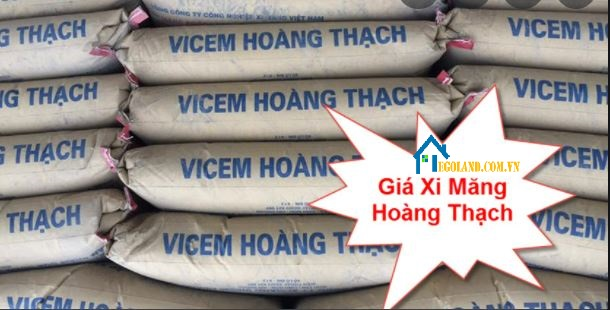 Giá xi măng Hoàng Thạch hiện nay là 75.000 VND/bao 50kg.