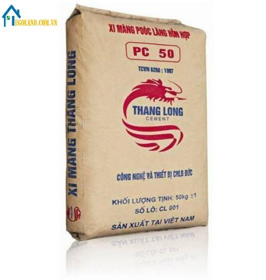 Giá xi măng Thăng Long là 74.000 VND/bao 50 kg