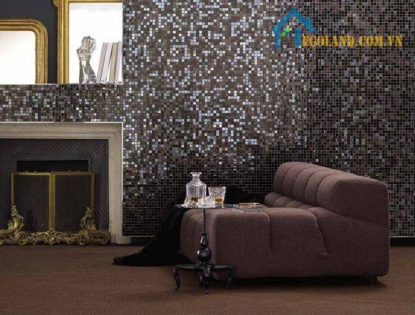Gạch mosaic ốp phòng khách