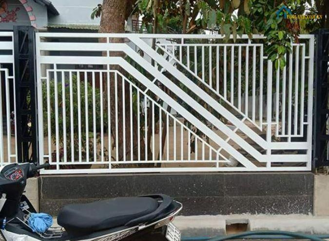Mẫu hàng rào sắt hiện đại