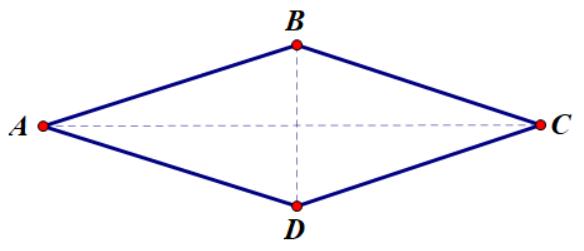 Hình thoi được cắt bởi 2 đường chéo
