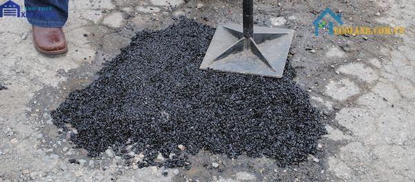 Bê tông nhựa được pha trộn giữ các cốt liệu