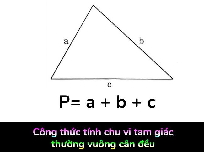 Công thức tính chu vi tam giác chung