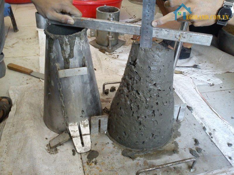 Độ sụt bê tông để đo lường đô cứng bê tông
