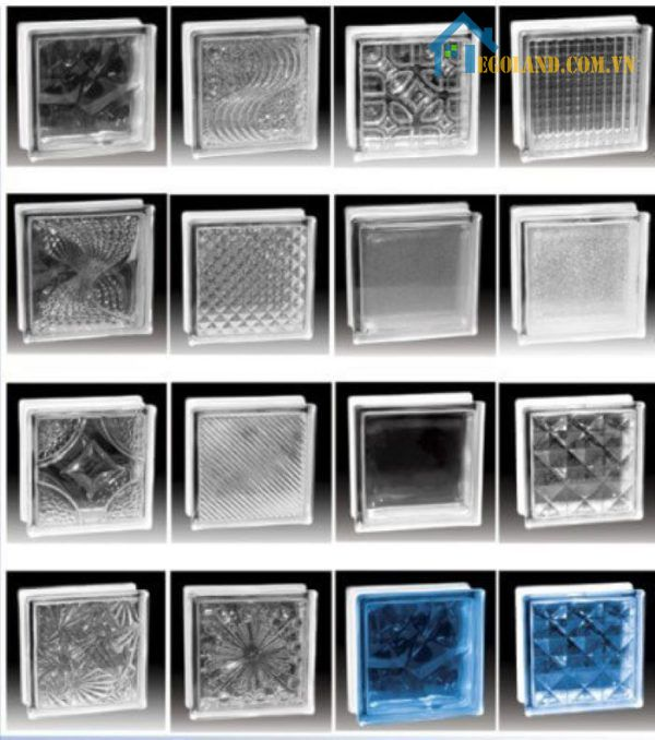 Gạch kính lấy sáng cầu thang đa dạng mẫu mã