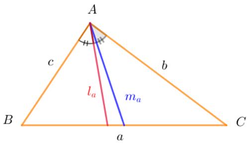 Các ký hiệu trong công thức hình học tam giác