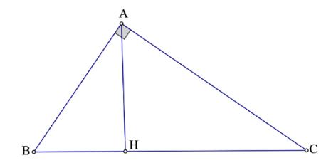Tam giác ABC vuông tại A có Ah là đường cao
