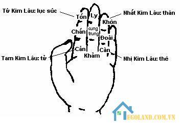 Tính tuổi Kim Lâu bằng bàn tay